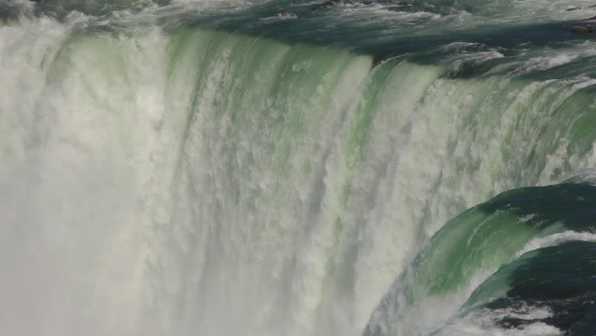 The Niagara River Flowing Over The Crest Line Of The Horseshoe Falls On The Canadian Side Of Niagara Falls