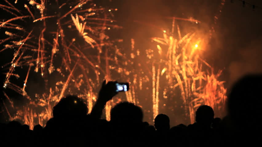 Firework, public, smartphones & tablets. Find similar clips in our portfolio. - HD stock video clip