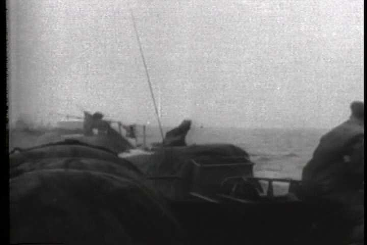 1940s - Allied forces begin D-Day and attempt to recapture France during World War 3 - SD stock footage clip