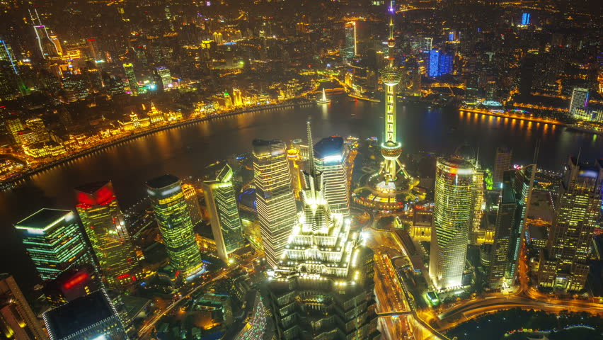 China Shanghai, time lapse(move up). 