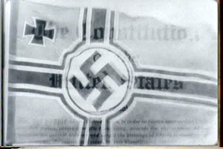 1940s - An African American priest reads from Mein Kampf to illustrate Hitler's racism. - SD stock video clip