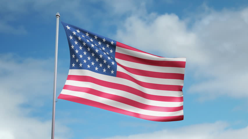 American flag on classic american truck stock footage for American classic usa