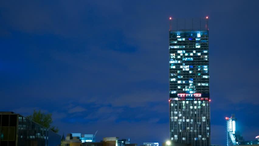 Manchester skyline time lapse