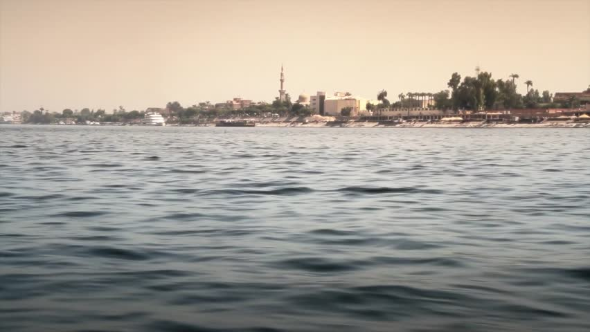 POV From Cruise Ship On The Nile. The Banks Of Luxor Stock Footage Video 4337741 - Shutterstock