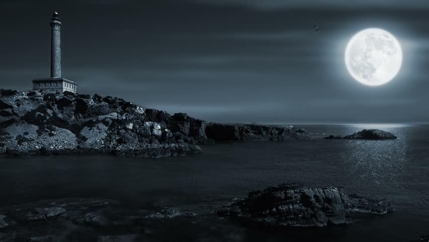 original landscape moon night - photo #14