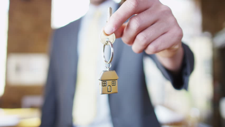 Key to a new home! - HD stock footage clip