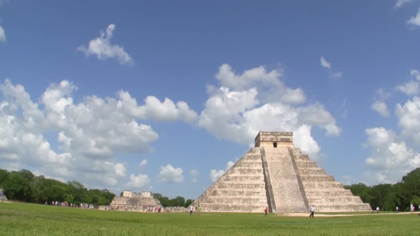 Mayan Pyramid at Chichen Itza Time Lapse