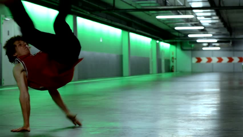 Breakdancer in the garage