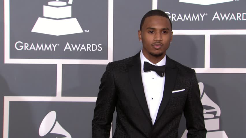 LOS ANGELES - February 10, 2013: Trey Songz at the Grammy Awards 2013 in the Staples Center in Los Angeles February 10, 2013