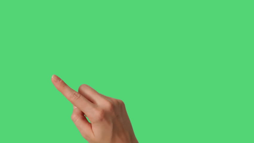Touch Screen Hand Gestures for smart phone and tablet on green screen