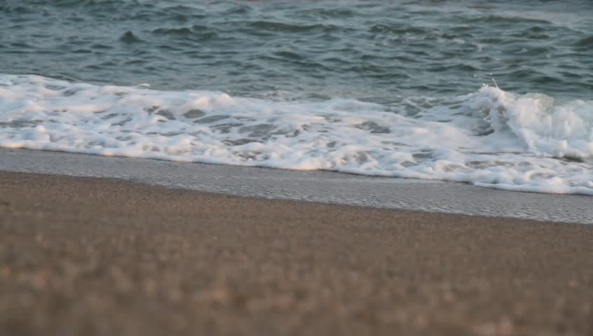 Beach and sea wave.  No sound. - HD stock footage clip