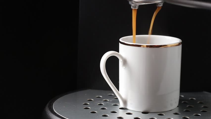 Expresso coffee preperation - HD stock footage clip
