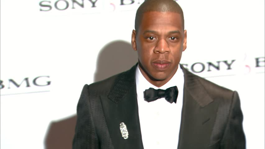 Beverly Hills, CA - FEBRUARY 10, 2008: Jay Z, walks the red carpet at the Sony BMG Grammy Party held at the Beverly Hills Hotel