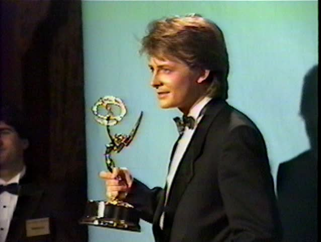 PASADENA - September 20, 1987: Michael J Fox at the Emmy Awards 1987 in the Pasadena Civic Auditorium in Pasadena September 20, 1987