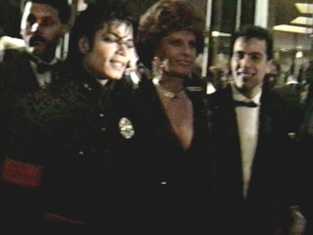 BEVERLY HILLS - January 27, 1990: Michael Jackson and Sophia Loren at the 7th Annual American Cinema Awards in the Beverly Hilton Hotel in Beverly Hills January 27, 1990