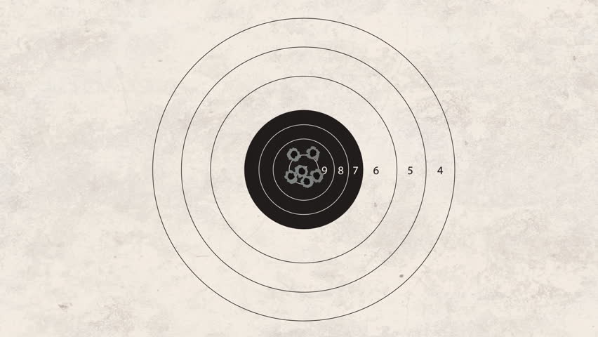 gun shoot to the shooting target concept - HD stock footage clip