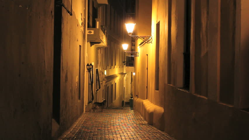 Puerto Rico San Juan night alley