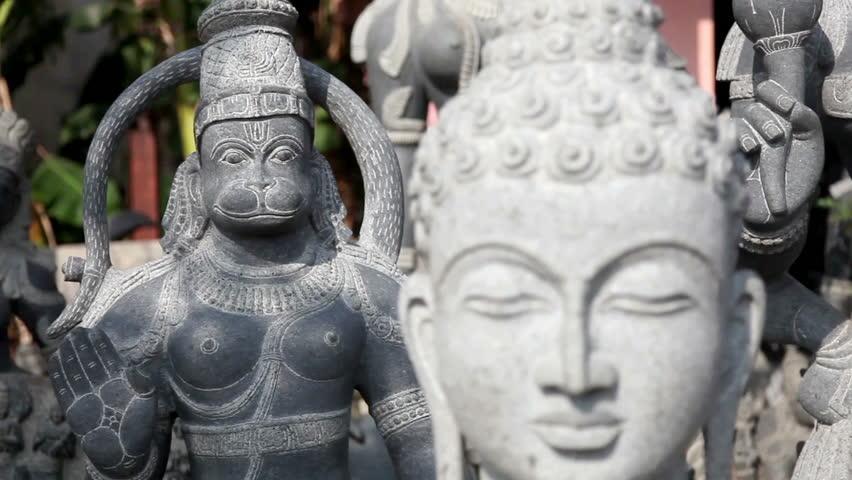 Buddha statue in Mamallapuram, Tamil Nadu, India