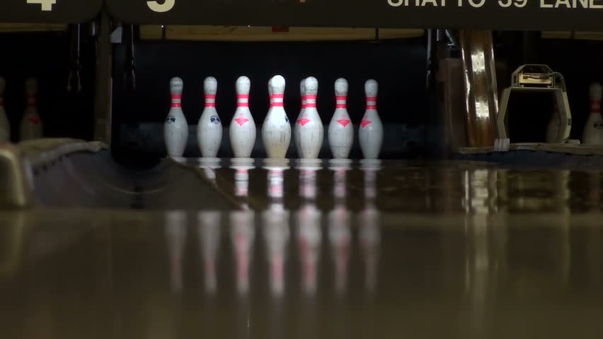 Bowling split - HD - HD stock footage clip