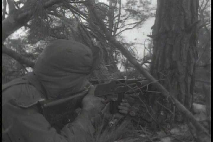 1950s - The Korean War rages on and army combat teams engage in battle with a wide variety of weapons.