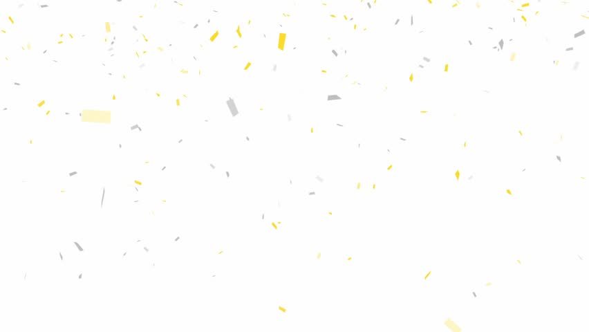 Gold and Silver Confetti - alpha channel included 