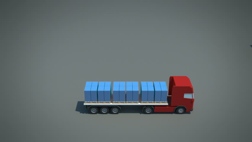 load / shipment consolidation strategies - continuous moves - stylized high quality 3d animation