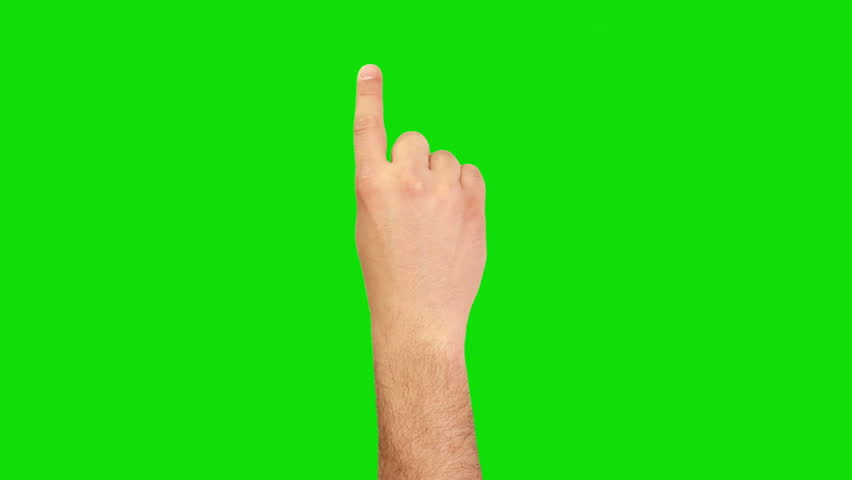 16 Hand gestures. Touchscreen. Male hand showing multitouch gestures in green screen. MORE OPTIONS IN MY PORTFOLIO.  - HD stock footage clip