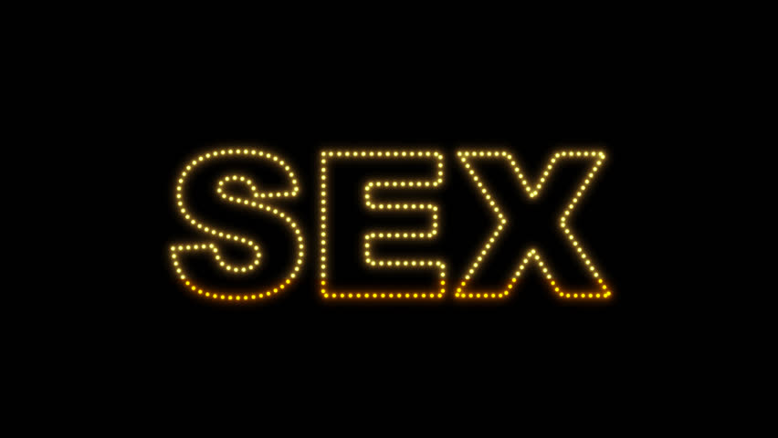 Set of 10 Sex text LEDS reveals with alpha channel