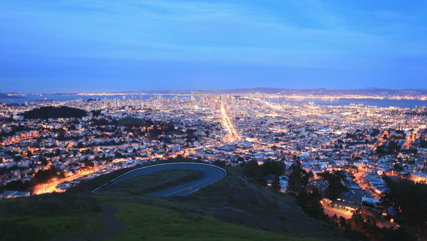 Time Lapse of San Francisco Day / Night -   4K - 4096x2304