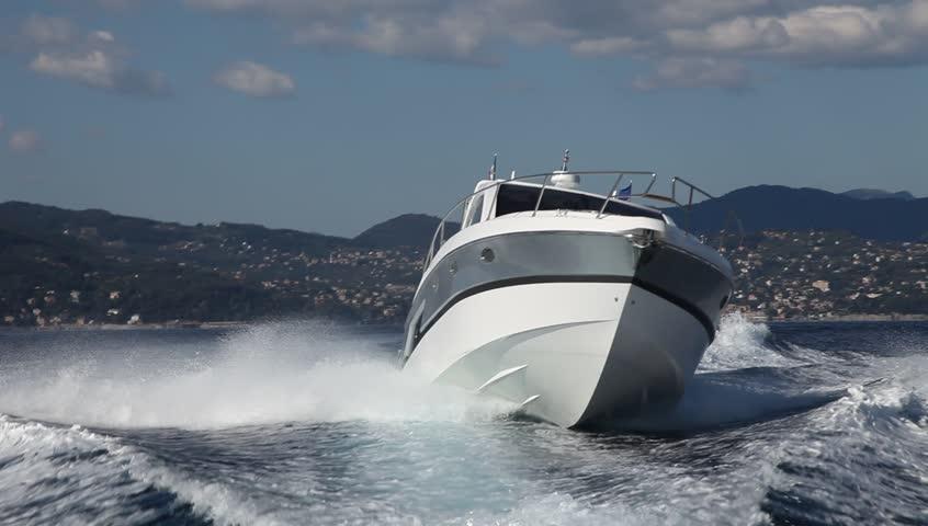 Motor Boat Rio Yacht Best Italian Yacht Stock Footage