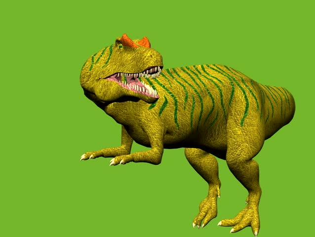 Dinosaur animation on green screen