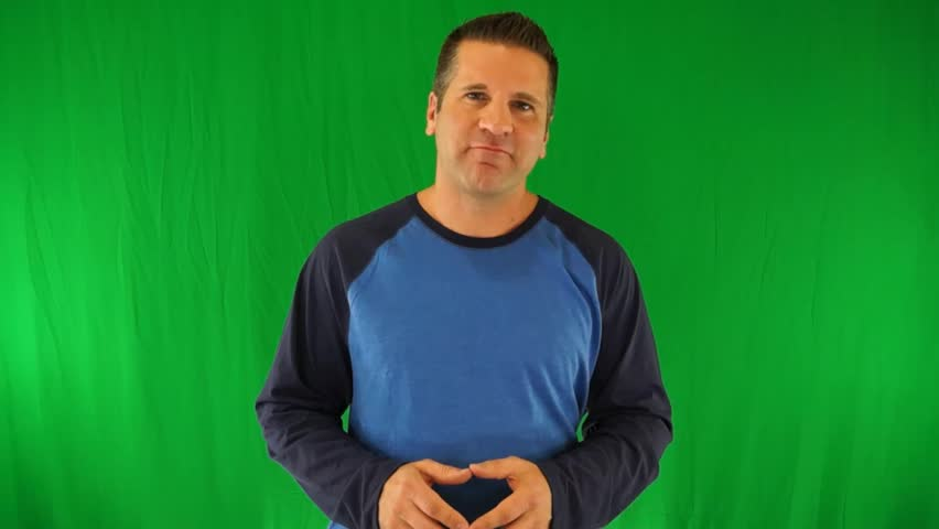 Actor Giving Generic Weight Loss Supplement Testimonial on a Green Screen