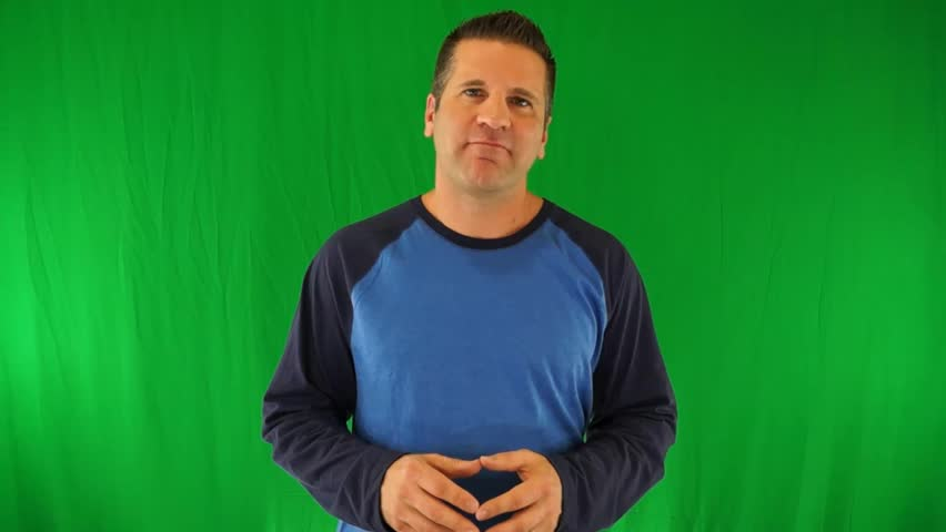 Actor Giving a Generic Positive Ebook Review on a Green Screen