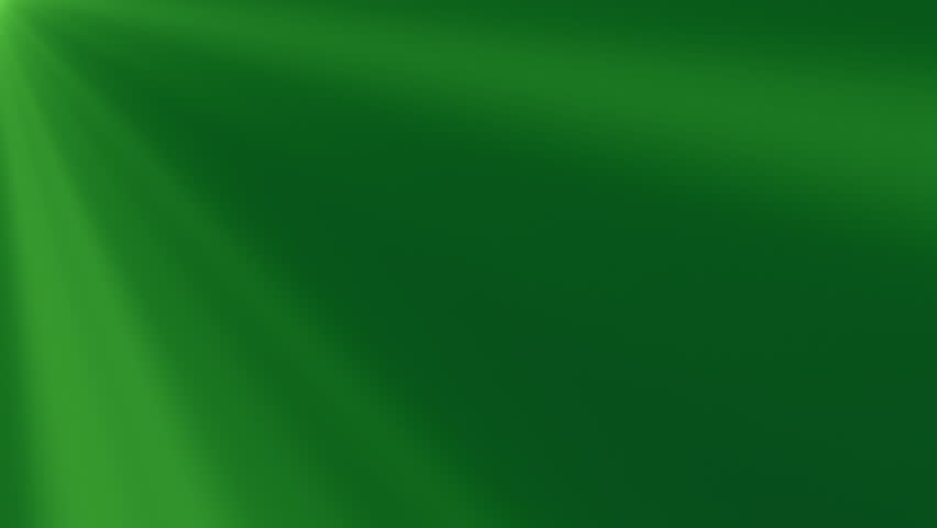 Looping clip of pale green light rays on a dark green background. Animation created in After Effects. - HD stock footage clip