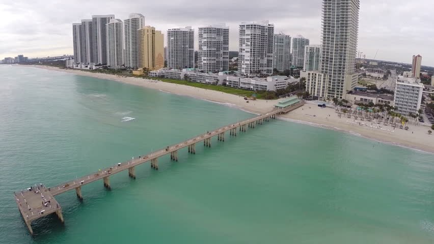 Sunny isles fishing pier circa 2013 stock footage video for Miami fishing piers