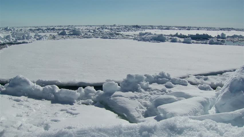 Time lapse of an Arctic ice floe.