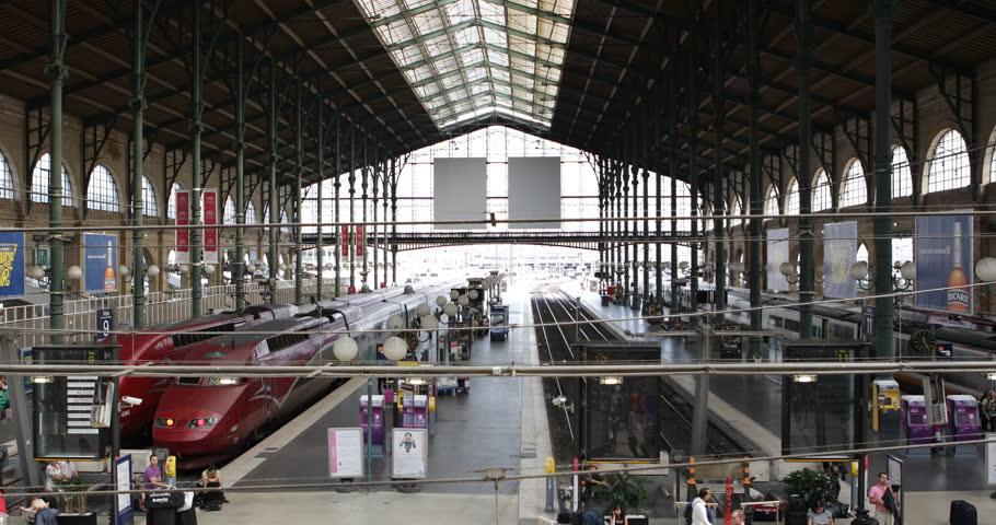 paris france july 26 2013 gare du nord paris station eurostar thalys tgv trains departures. Black Bedroom Furniture Sets. Home Design Ideas