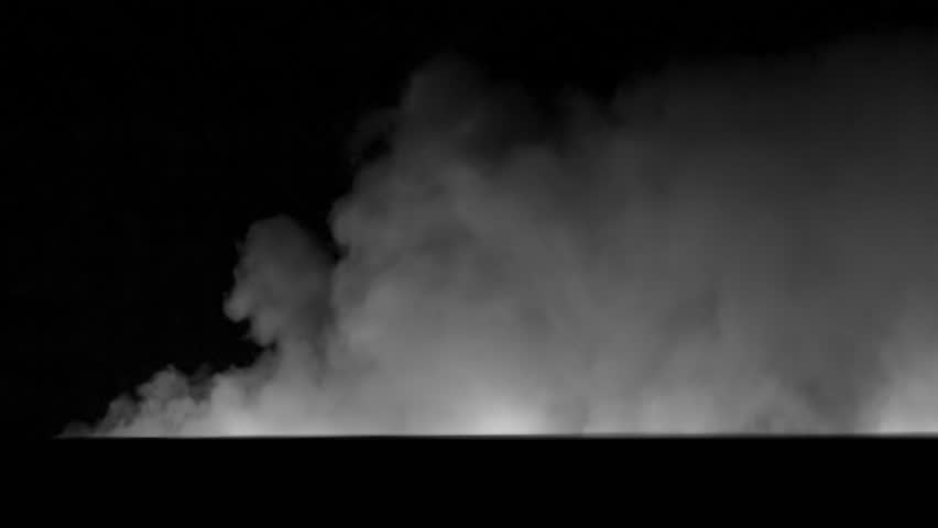 Smoke VFX element.  Large scale and slow moving.