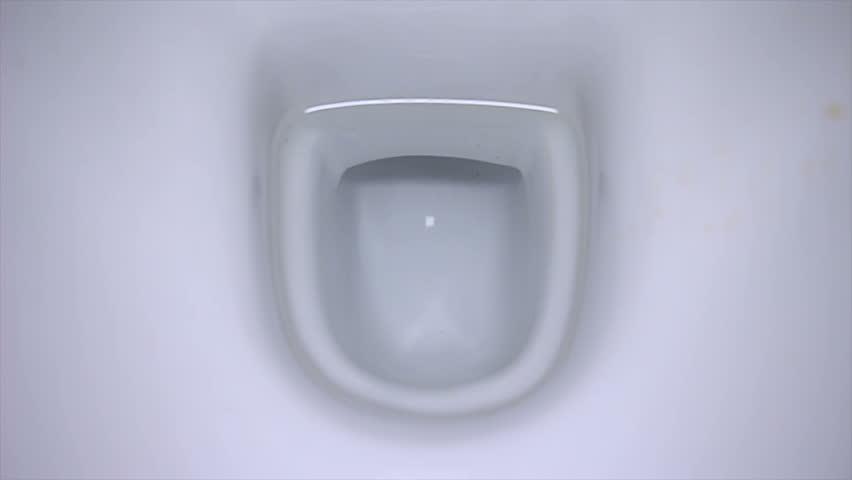 Toy Toilet Flushing Sound : Flushing toilet with sound stock footage video