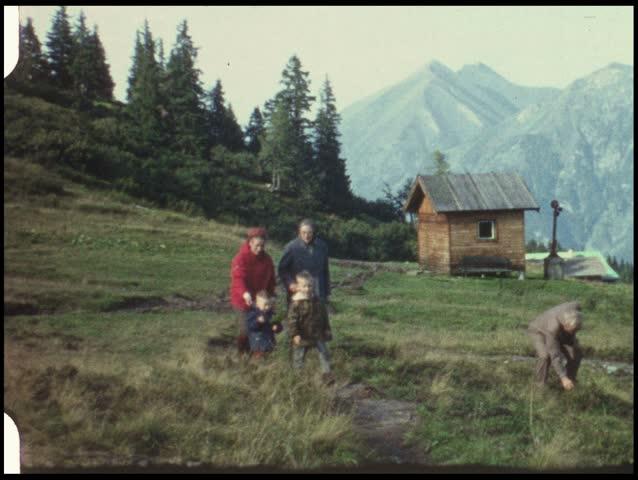 Mountain Trip With Grandma And Grandpa (vintage 8 Mm