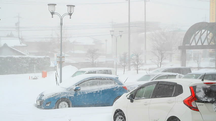 NAGANO PREFECTURE, JAPAN - FEBRUARY, 8: February 8, 2014 was one of the strongest blizzards in the last 46 years in Tokyo and Central Japan.