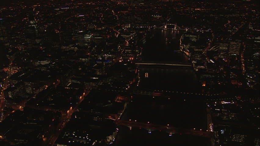 London at night - Wide over Thames and Houses of Parliament