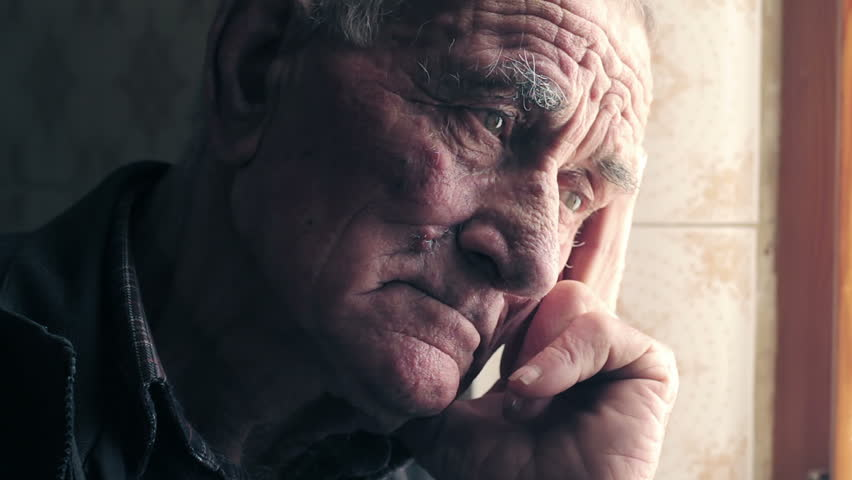 Very old man portrait - HD stock footage clip