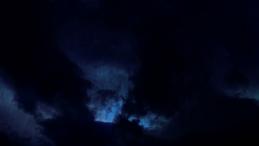 Storm clouds. Time-lapse animation of clouds and rain ...