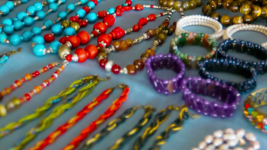 High definition video - Cheap jewelry on the open market. Myanmar