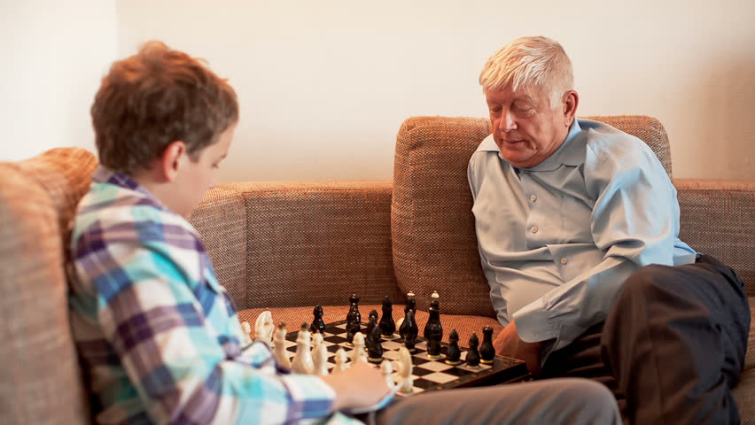 Grandpa plays chess and fucks a young girl 5
