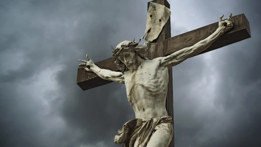 Crucifixion. Christian Cross With Crucified Jesus Christ ...
