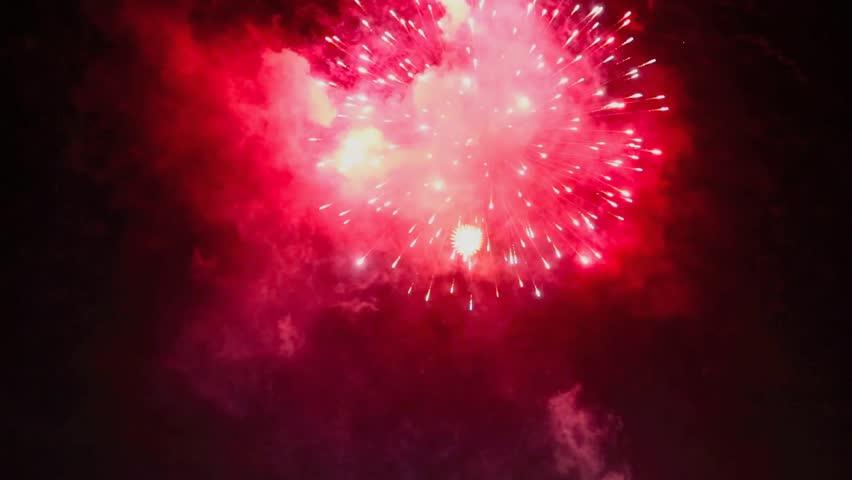 Fireworks display in night sky