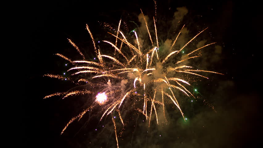 colourful fireworks display during las fallas festival in valencia, spain