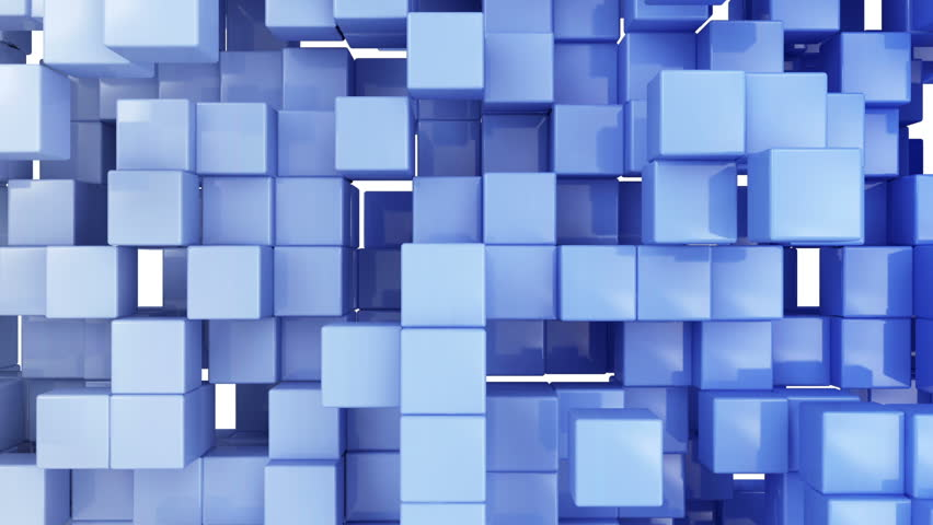 Seamless Looping Abstract Cubes Background. HQ Video Clip